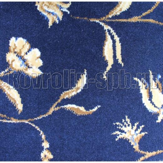Ковролин бытовой Тканый ковролин Азалия синий