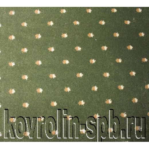 Ковролин бытовой Тканый ковролин Дотс зеленый