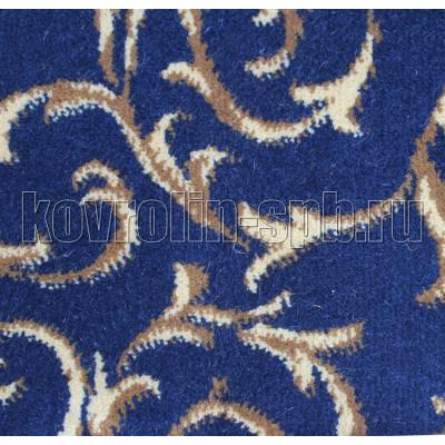 Ковролин бытовой Натуральный ковролин Флора синий