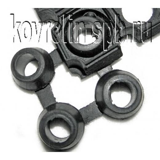 Грязезащитные покрытия Коврики ячеистые резиновые Соединительный элемент 22h мм