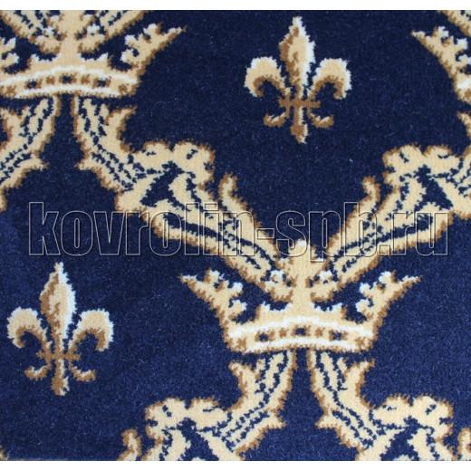 Ковролин бытовой Тканый ковролин Корона синий